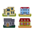 Houses front view vector image vector image