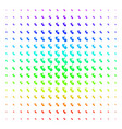human embryo shape halftone spectral grid vector image vector image