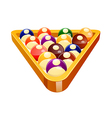 icon pool ball vector image vector image