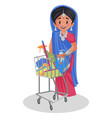 indian gujarati woman cartoon vector image