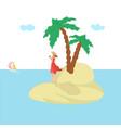 island woman vacation summer sun attractive sea vector image vector image