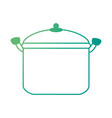 kitchen pot isolated icon vector image vector image