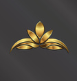 Luxury Gold Lotus plant image vector image vector image