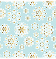 luxury tender xmas snowflakes seamless pattern vector image