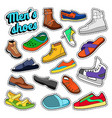 mens fashion shoes and boots set for stickers vector image vector image