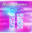Merry christmas gift on a background vector image vector image