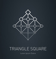 Modern stylish logo Design element with squares vector image vector image