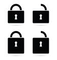 padlock icon black vector image