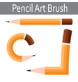 Pencil icon art brush vector image