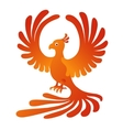 Phoenix on the white background Fire-bird vector image