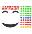 pleasure smile icon with bonus mood collection vector image vector image