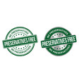 preservatives free grunge stamp and label vector image vector image