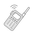 radio set line icon vector image