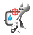 repair of plumbing and water pipes vector image vector image