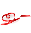 ribbon in the form of heart vector image vector image