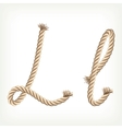 Rope alphabet Letter L vector image vector image