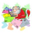 Santa and e mail vector image vector image