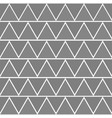 seamless grey and white triangles pattern vector image