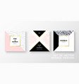 set trendy geometric card or flyer designs whit vector image