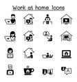set work at home icons contains such icons as vector image