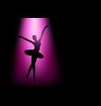 silhouette of a ballerina vector image vector image