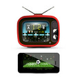 sport streaming on television footbal match on vector image vector image