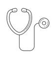 stethoscope line icon vector image