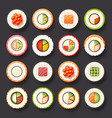 sushi icon set vector image vector image