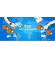 TPP Trans Pacific Partnership Agreement free vector image vector image