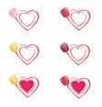 tulip in heart vector image vector image