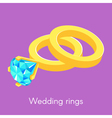 two isometric wedding rings vector image vector image