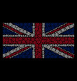 united kingdom flag collage of boat steering wheel vector image