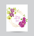 wedding invitation layout template orchid flowers vector image vector image