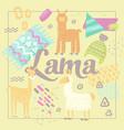 wildlife lamas design handdrawn abstract childish vector image vector image