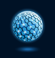 abstract cellular global icon vector image