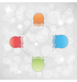 gradient circle arrows with bubbles vector image