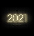 2021 new year neon banner vector image vector image