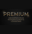 3d elegant premium golden font on dark luxury