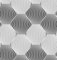 3D shades of gray vertical striped waves vector image vector image