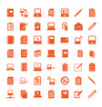 49 notebook icons vector image vector image