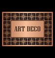 art deco border frame vector image vector image