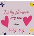 baby shower boylittle man invitation template vector image