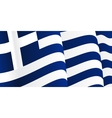Background with waving Greek Flag vector image vector image