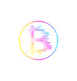 bitcoin coin with fast speed motion lines vector image vector image