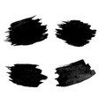 black blobs collection white background vector image vector image