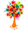 blot abstract tree vector image