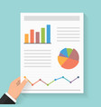 business report with graphs vector image vector image