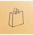 cartoon of three brown paper bags vector image vector image