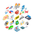 case icons set isometric style vector image vector image