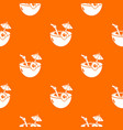 coconut cocktail pattern orange vector image vector image